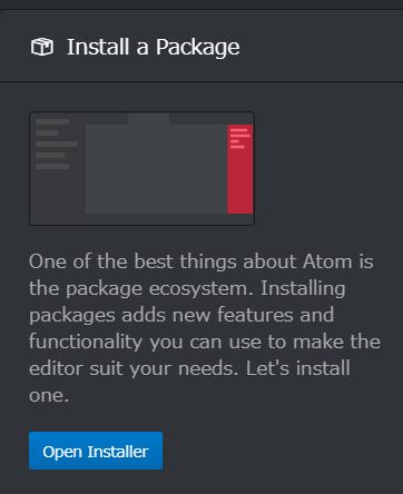 Atom Setting