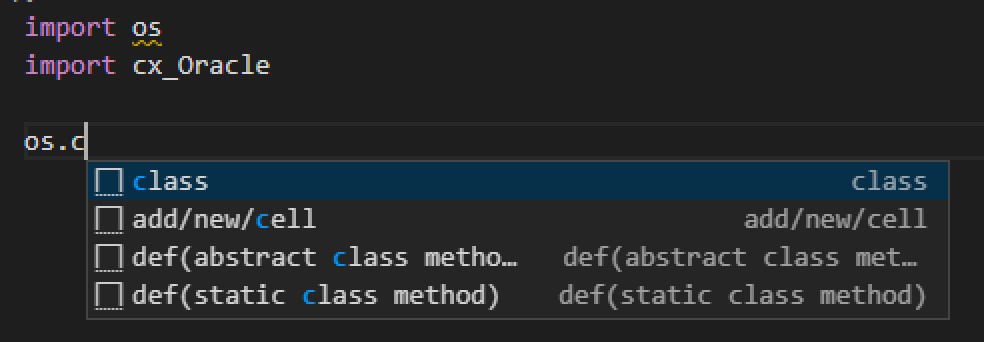 Microsoft Language Serverのオートコンプリート機能