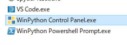 WinPython Control Panel起動